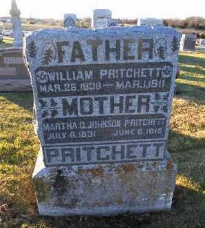 PRITCHETT, WILLIAM THOMAS - Pike County, Missouri   WILLIAM THOMAS PRITCHETT - Missouri Gravestone Photos