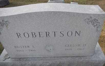 ROBERTSON, GLESSIE D - Pike County, Missouri | GLESSIE D ROBERTSON - Missouri Gravestone Photos