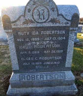 ROBERTSON, STELLA - Pike County, Missouri | STELLA ROBERTSON - Missouri Gravestone Photos