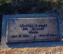 RUBY, LOWELL SEVIER VETERAN - Pike County, Missouri | LOWELL SEVIER VETERAN RUBY - Missouri Gravestone Photos