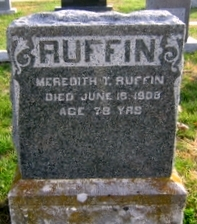 RUFFIN, MEREDITH THOMAS - Pike County, Missouri | MEREDITH THOMAS RUFFIN - Missouri Gravestone Photos