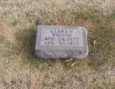 WILSON, CLARA VIRGINIA - Pike County, Missouri | CLARA VIRGINIA WILSON - Missouri Gravestone Photos