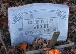 WRIGHT, LOTTIE - Pike County, Missouri | LOTTIE WRIGHT - Missouri Gravestone Photos