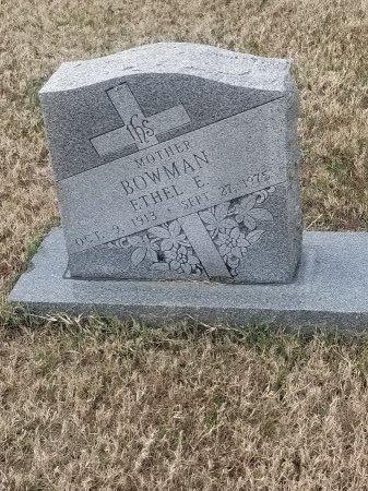 GRAVES BOWMAN, ETHEL ELIZABETH - Pulaski County, Missouri | ETHEL ELIZABETH GRAVES BOWMAN - Missouri Gravestone Photos