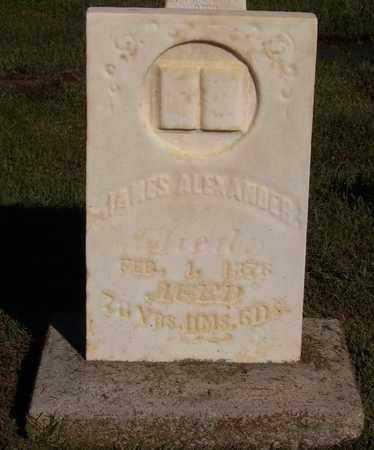 ALEXANDER, JAMES - Ralls County, Missouri | JAMES ALEXANDER - Missouri Gravestone Photos