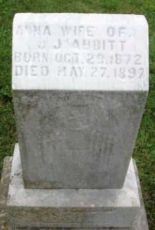 ABBITT, ANNA - Randolph County, Missouri | ANNA ABBITT - Missouri Gravestone Photos
