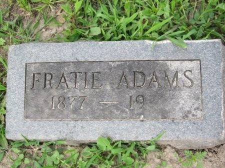 ADAMS, FRATIE - Randolph County, Missouri | FRATIE ADAMS - Missouri Gravestone Photos