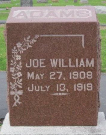 ADAMS, JOE WILLIAM - Randolph County, Missouri   JOE WILLIAM ADAMS - Missouri Gravestone Photos