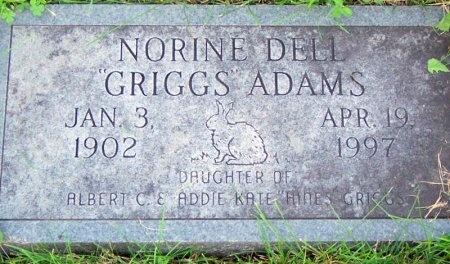 ADAMS, NORINE DELL - Randolph County, Missouri | NORINE DELL ADAMS - Missouri Gravestone Photos