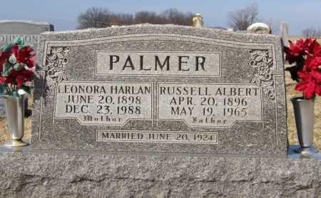 PALMER, LEONORA HARLAN - Randolph County, Missouri | LEONORA HARLAN PALMER - Missouri Gravestone Photos