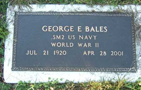 BALES, GEORGE EDWARD (VETERAN WWII) - Ray County, Missouri   GEORGE EDWARD (VETERAN WWII) BALES - Missouri Gravestone Photos