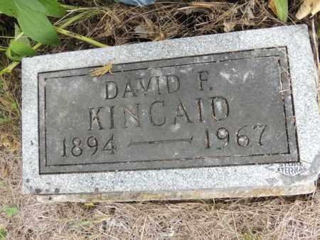 KINCAID, DAVID FRANKLIN - Ray County, Missouri   DAVID FRANKLIN KINCAID - Missouri Gravestone Photos