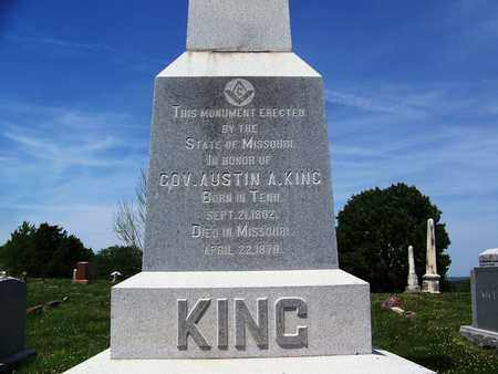 KING, AUSTIN A (VETERAN IW) (FAMOUS) - Ray County, Missouri | AUSTIN A (VETERAN IW) (FAMOUS) KING - Missouri Gravestone Photos