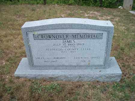 CROWNOVER, ELIZA ANN - Reynolds County, Missouri | ELIZA ANN CROWNOVER - Missouri Gravestone Photos