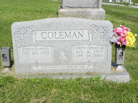 COLEMAN, LEROY DOUGLAS - Saline County, Missouri   LEROY DOUGLAS COLEMAN - Missouri Gravestone Photos