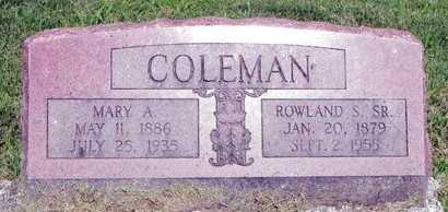 COLEMAN, ROWLAND SAMUEL - Saline County, Missouri | ROWLAND SAMUEL COLEMAN - Missouri Gravestone Photos