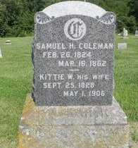 "CARTER COLEMAN, CATHERINE WREN ""KITTIE"" - Saline County, Missouri 