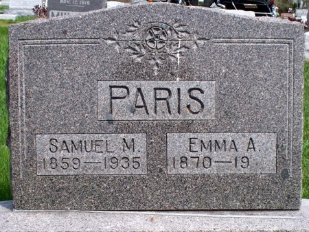PARIS, EMMA ANNA - Schuyler County, Missouri | EMMA ANNA PARIS - Missouri Gravestone Photos