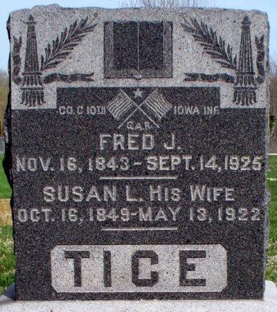 "TICE, SUSANAH LUCY ""SUSAN"" - Schuyler County, Missouri | SUSANAH LUCY ""SUSAN"" TICE - Missouri Gravestone Photos"