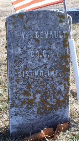 DEVAULT, W (VETERAN UNION) - Scotland County, Missouri | W (VETERAN UNION) DEVAULT - Missouri Gravestone Photos