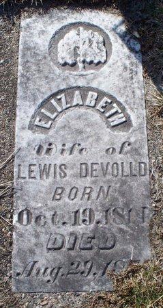 DEVOLLD, ELIZABETH - Scotland County, Missouri | ELIZABETH DEVOLLD - Missouri Gravestone Photos