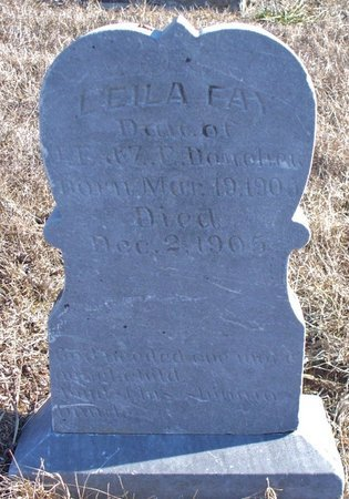 DONAHEW, LEILA FAY - Scotland County, Missouri | LEILA FAY DONAHEW - Missouri Gravestone Photos