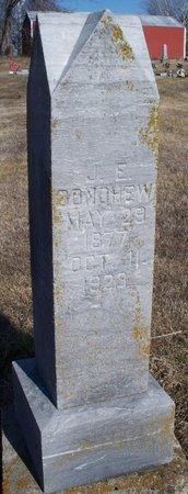 DONOHEW, J E - Scotland County, Missouri   J E DONOHEW - Missouri Gravestone Photos