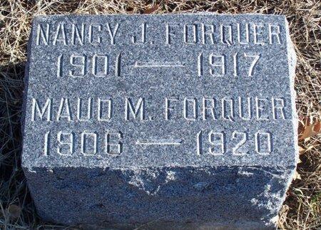 FORQUER, MAUD M - Scotland County, Missouri   MAUD M FORQUER - Missouri Gravestone Photos