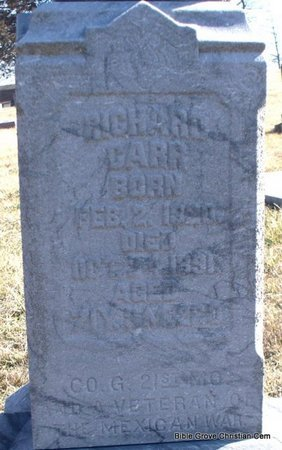 GARR, RICHARD (VETERAN MAW) (CLOSE UP) - Scotland County, Missouri | RICHARD (VETERAN MAW) (CLOSE UP) GARR - Missouri Gravestone Photos