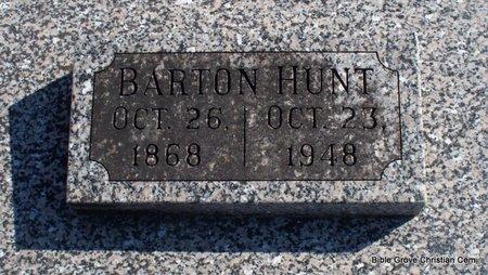 HUNT, BARTON - Scotland County, Missouri | BARTON HUNT - Missouri Gravestone Photos
