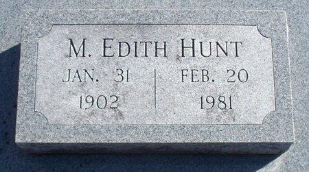 HUNT, MARY EDITH - Scotland County, Missouri | MARY EDITH HUNT - Missouri Gravestone Photos