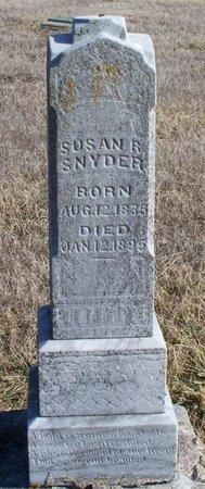 SNYDER, SUSAN REBECCA - Scotland County, Missouri | SUSAN REBECCA SNYDER - Missouri Gravestone Photos