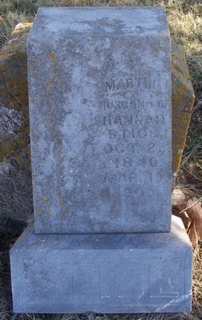 STICE, MARTIN VANBUREN - Scotland County, Missouri   MARTIN VANBUREN STICE - Missouri Gravestone Photos