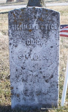 STICE, RICHMOND (VETERAN UNION) - Scotland County, Missouri | RICHMOND (VETERAN UNION) STICE - Missouri Gravestone Photos