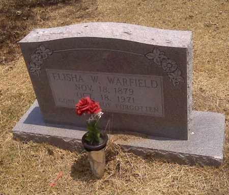 WARFIELD, ELISHA W - Scott County, Missouri | ELISHA W WARFIELD - Missouri Gravestone Photos