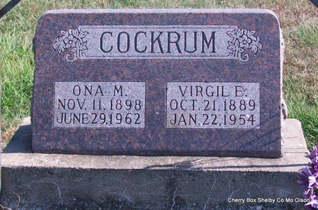 BROWN COCKRUM, ONA MAE - Shelby County, Missouri | ONA MAE BROWN COCKRUM - Missouri Gravestone Photos