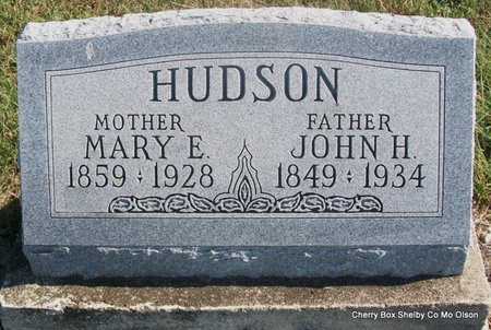 HUDSON, MARY ELIZABETH - Shelby County, Missouri   MARY ELIZABETH HUDSON - Missouri Gravestone Photos