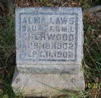 SHERWOOD, ALMA LAWS - Shelby County, Missouri   ALMA LAWS SHERWOOD - Missouri Gravestone Photos