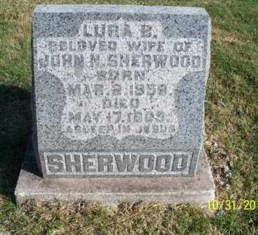 SHERWOOD, LURA B. - Shelby County, Missouri | LURA B. SHERWOOD - Missouri Gravestone Photos
