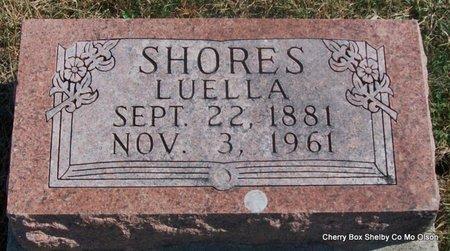 SHORES, LUELLA - Shelby County, Missouri | LUELLA SHORES - Missouri Gravestone Photos