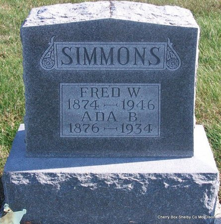 WILSON SIMMONS, ADA BELLE - Shelby County, Missouri | ADA BELLE WILSON SIMMONS - Missouri Gravestone Photos