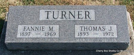 HUDSON TURNER, FANNIE M - Shelby County, Missouri | FANNIE M HUDSON TURNER - Missouri Gravestone Photos