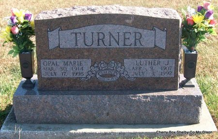 SIMMONS TURNER, OPAL MARIE - Shelby County, Missouri | OPAL MARIE SIMMONS TURNER - Missouri Gravestone Photos