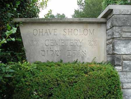 *, OHAVE SHOLOM CEMETERY ENTRANCE - St. Louis County, Missouri | OHAVE SHOLOM CEMETERY ENTRANCE * - Missouri Gravestone Photos