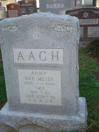 AACH, ANNY - St. Louis County, Missouri   ANNY AACH - Missouri Gravestone Photos