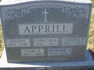 APPRILL, JOSEPH - St. Louis County, Missouri | JOSEPH APPRILL - Missouri Gravestone Photos