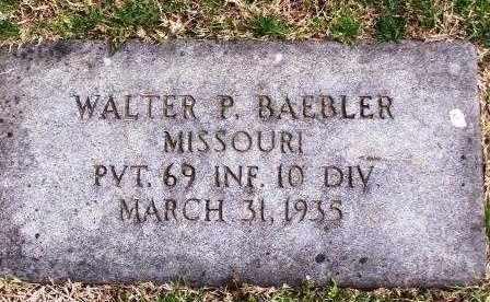 BAEBLER, WALTER P (VETERAN) - St. Louis County, Missouri   WALTER P (VETERAN) BAEBLER - Missouri Gravestone Photos