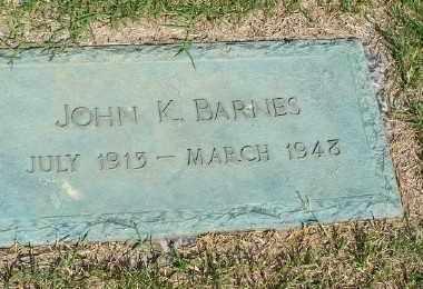 BARNES, JOHN K - St. Louis County, Missouri | JOHN K BARNES - Missouri Gravestone Photos