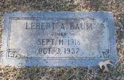 BAUM, LEBERT A - St. Louis County, Missouri   LEBERT A BAUM - Missouri Gravestone Photos