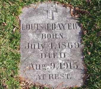BAYER, LOUIS J - St. Louis County, Missouri | LOUIS J BAYER - Missouri Gravestone Photos
